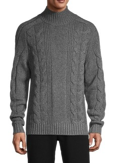 Vince Cable-Knit Wool & Cashmere Sweater