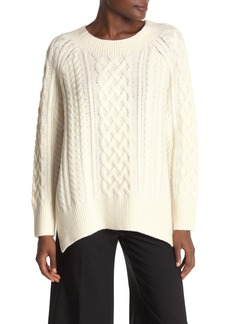Vince Cable Knit Wool Blend Tunic Sweater