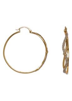 Vince Camuto 54mm Pave Crystal Hoop Earrings