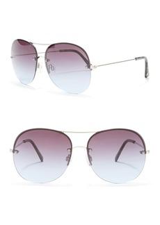 Vince Camuto 59mm Semi-Rimless Aviator Sunglasses