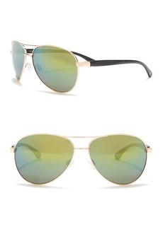 Vince Camuto 65mm Flash Mirror Aviator Sunglasses