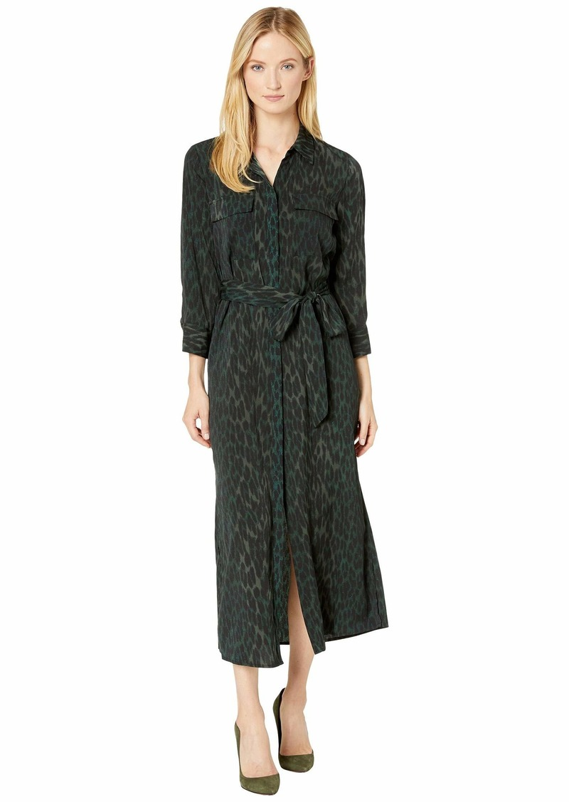 Vince Camuto Animal Phrases Belted Two-Pocket Shirtdress