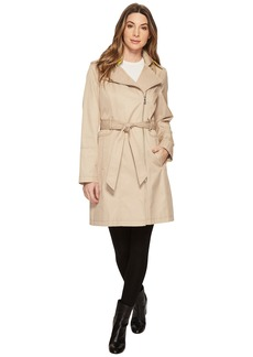Vince Camuto Asymmetrical Belted Trench