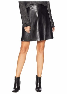 Vince Camuto Back Zip Pleather Skirt