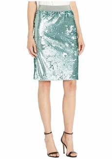 Vince Camuto Back Zip Two-Way Sequin Pencil Skirt