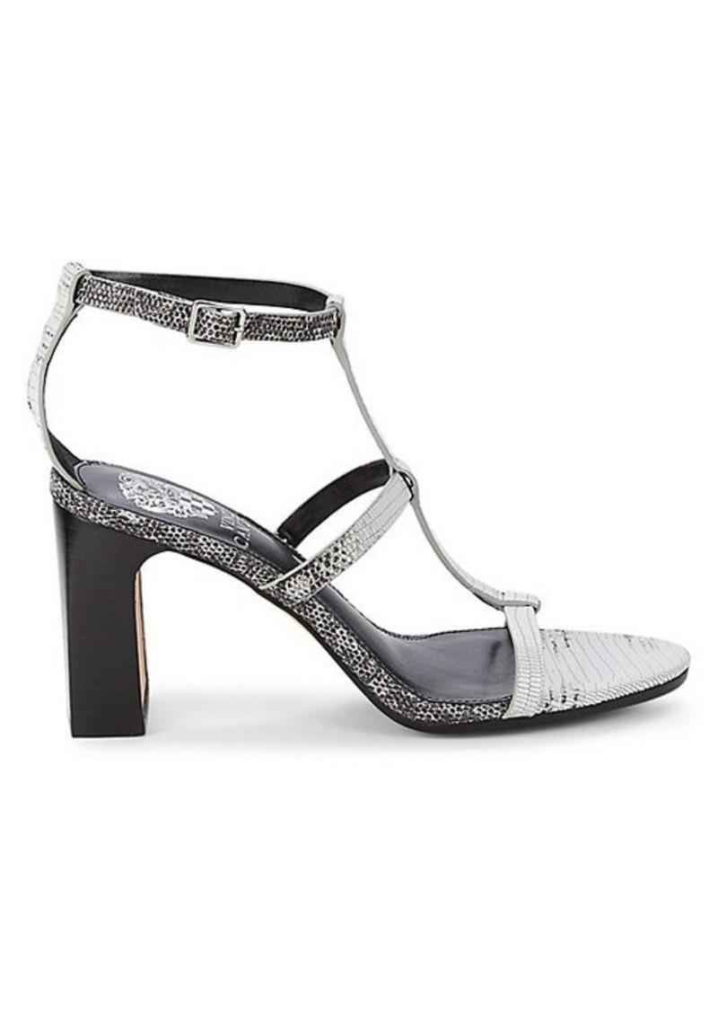 Vince Camuto Balindah Snakeskin-Print Leather Sandals