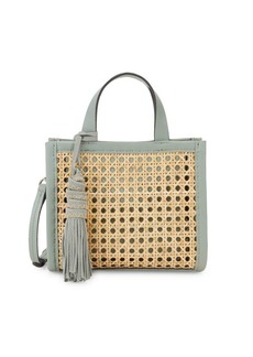 Vince Camuto Bamboo & Leather Open Weave Mini Bag