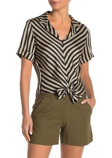 Vince Camuto Bay Stripe Tie Front Shirt