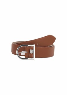 Vince Camuto Bell Buckle with Feathered Edge and Tonal Stitching