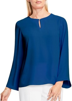 Vince Camuto Bell Sleeve Keyhole Blouse