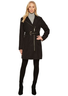 Vince Camuto Belted Asymmetrical Zip Trench N8711
