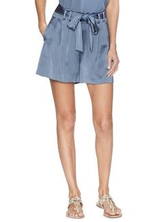 Vince Camuto Belted Satin Paperbag Shorts