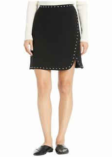 Vince Camuto Bi-Stretch Crepe Studded Mini Skirt