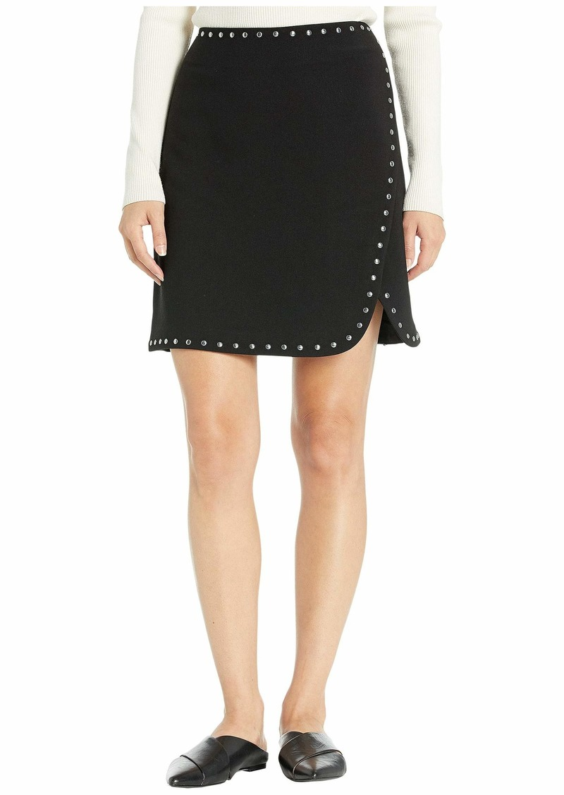 Vince Camuto Bi-Stretch Crepe Studded Mini Skirt