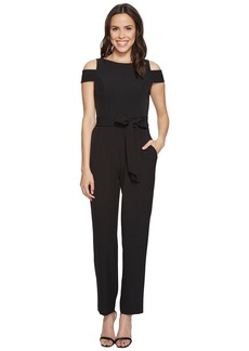 Vince Camuto Boat Neck Cold Shoulder Jumpsuit