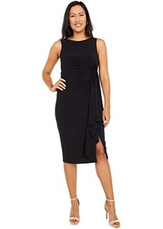 Vince Camuto Boatneck Midi with Side Ruffle