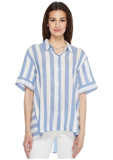 Vince Camuto Bold Stripe Oversized Button Down Shirt