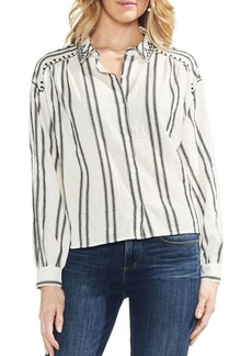 Vince Camuto Bubble Long-Sleeve Cotton Button-Down Shirt