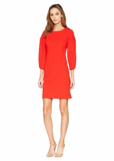 Vince Camuto Bubble Sleeve Crepe Ponte Dress