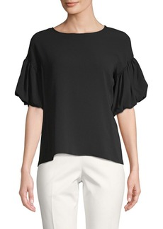 Vince Camuto Bubble-Sleeve Roundneck Top