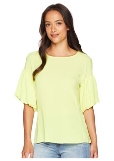 Vince Camuto Bubble Sleeve Soft Texture Blouse