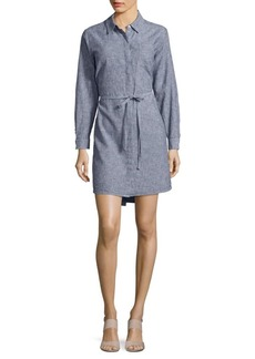 Vince Camuto Button Front Pinstriped Tunic Shirtdress