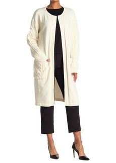 Vince Camuto Cable Knit Detail Long Cardigan