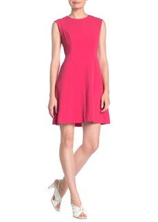 Vince Camuto Cap Sleeve Crepe Dress
