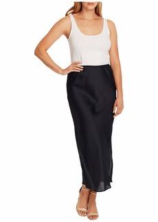 Vince Camuto Charmeuse Side Slit Maxi Skirt