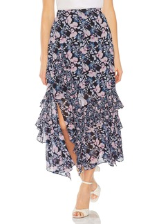 Vince Camuto Charming Floral Tiered Ruffle Maxi Skirt