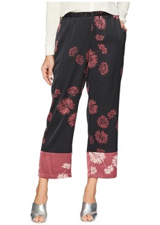 Vince Camuto Chateau Sketch Floral Pull-On Pants