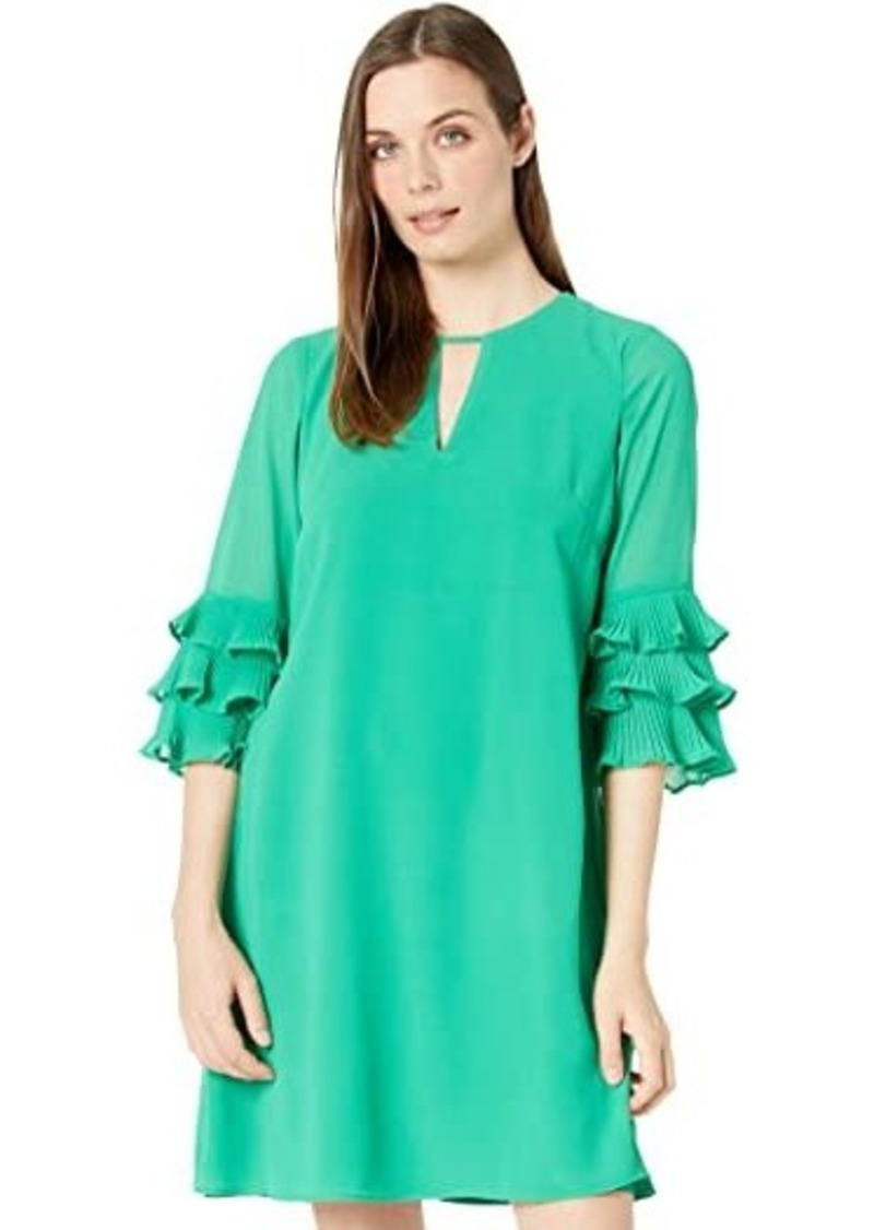 Vince Camuto Chiffon Float with Pleated Sleeve