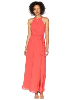 Vince Camuto Chiffon Surplice Maxi with Front Keyhole