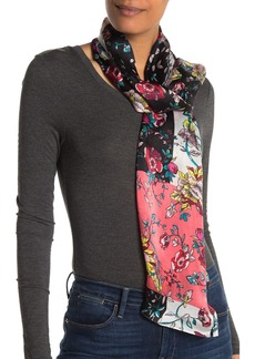 Vince Camuto Colorblock Floral Silk Oblong Scarf