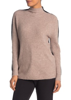 Vince Camuto Colorblock Mock Neck Knit Sweater