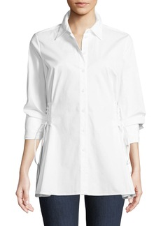 Vince Camuto Corset-Side Button-Front Blouse