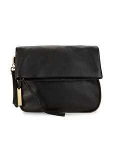 Vince Camuto Cory Top Zip Leather Shoulder Bag