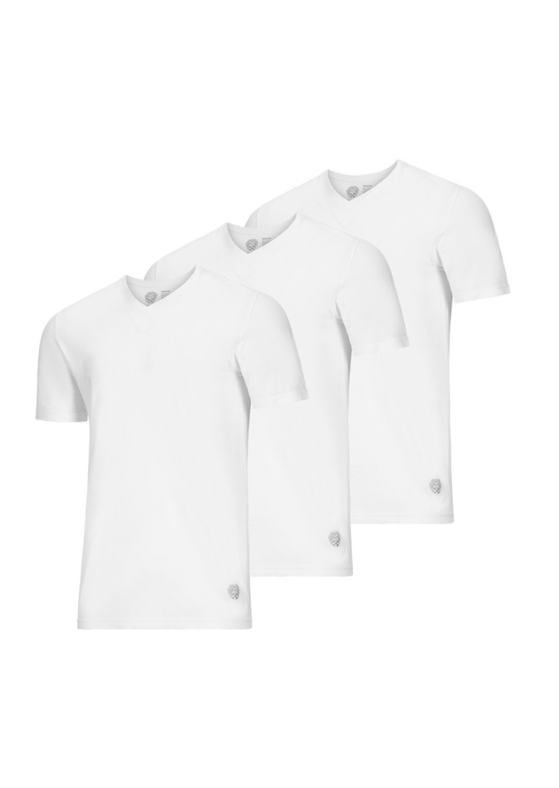 Vince Camuto Cotton V-Neck T-Shirt - Pack of 3