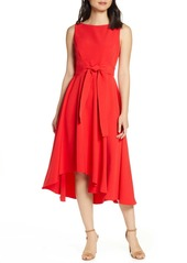 Vince Camuto Crepe Asymmetrical Midi Dress