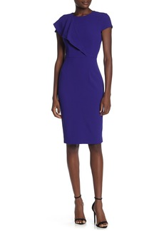Vince Camuto Crepe Bodycon Ruffle Dress