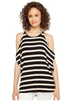Vince Camuto Desert Stripe Cold-Shoulder Dolman Top