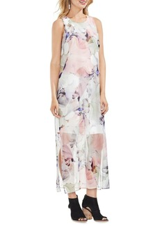Vince Camuto Diffused Floral Maxi Dress