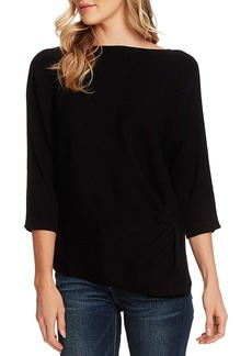 Vince Camuto Dolman Sleeve Side Twist Ribbed Sweater