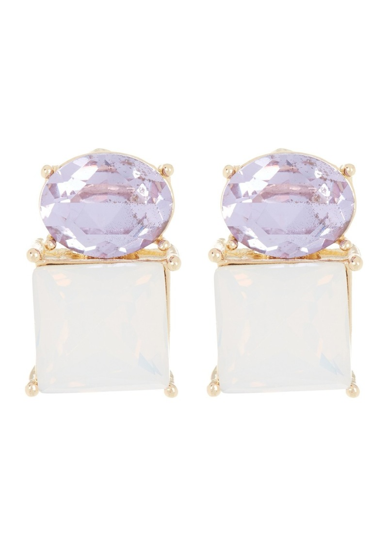 Vince Camuto Double Crystal Stud Earrings