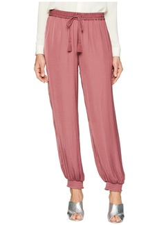 Vince Camuto Drawstring Waist Smocked Cuff Pull-On Pants