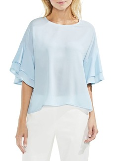 Vince Camuto Dropped-Shoulder Tiered Top