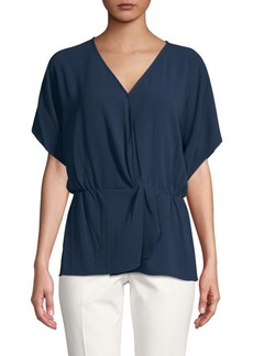 Vince Camuto Dropped-Shoulder Wrap Top