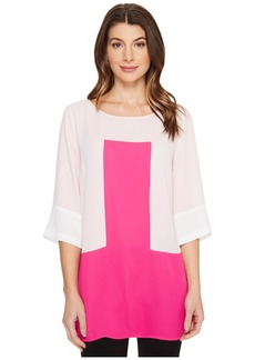 Vince Camuto Elbow Sleeve Color Blocked Blouse