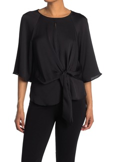 Vince Camuto Elbow Sleeve Tie Front Blouse