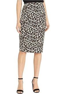 Vince Camuto Elegant Leopard Midi Tube Skirt